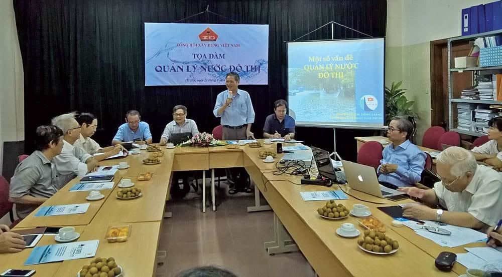 """Tọa đàm """"Quản lý nước đô thị"""" do Tổng hội Xây dựng Việt Nam tổ chức. Ảnh: Mỹ Dung"""