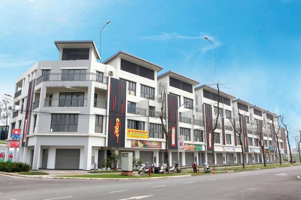 Khu vực Shophouse tại Khu đô thị mới Garmuda Garden Hà Nội
