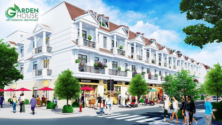 Phối cảnh nhà phố thương mại dự án Garden House