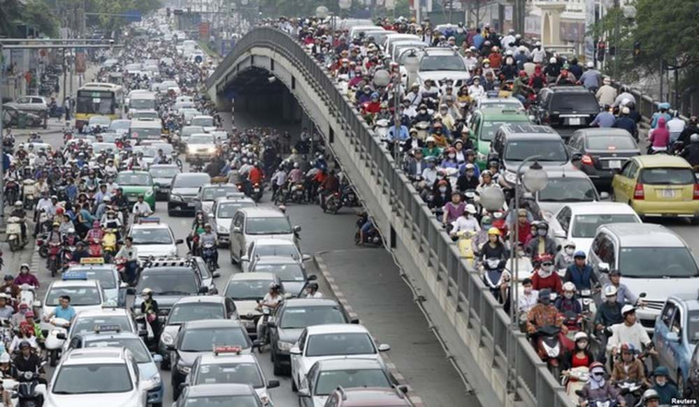 Hạ tầng giao thông của Hà Nội đã đủ điều kiện để thực hiện việc quản lý thu phí? Ảnh minh hoạ: TL