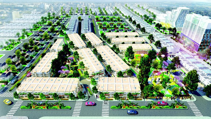 Phối cảnh tổng thể khu đô thị Eco Town Long Thành.