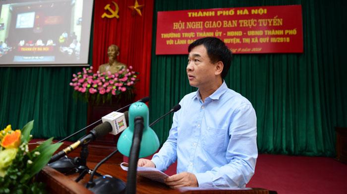 Giám đốc Sở Xây dựng Hà Nội Lê Văn Dục phát biểu tại Hội nghị.