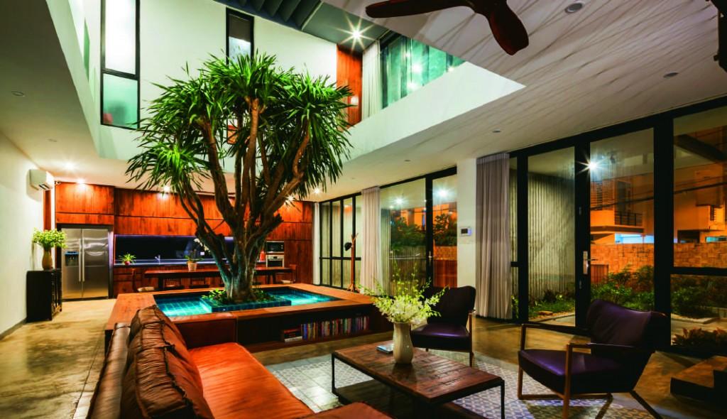Nội thất nhà phố mới thiết kế theo giải pháp liên hoàn để khắc phục hạn chế cứng nhắc trong tổ chức không gian