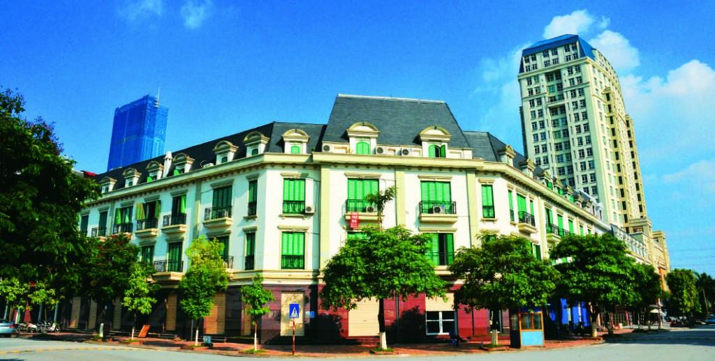 Nhà phố  mới thiết kế theo  phong cách kiến trúc Tân Cổ  Điển, KĐTM Mỹ Đình Sông Đà, Hà Nội