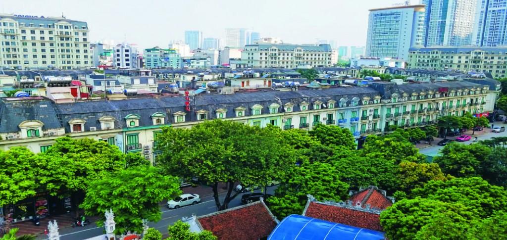 Tổ chức khu nhà phố theo tuyến đồng bộ, KĐTM The Manor Hà  Nội