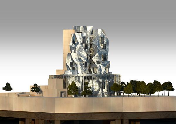 Một mô hình mô phỏng cho thấy hình dạng cuối cùng khi tháp hoàn thành
