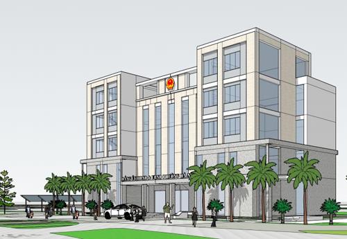 Một mẫu thiết kế kiến trúc trụ sở UBND xã phường được đưa ra lấy ý kiến. Nguồn: HRAP