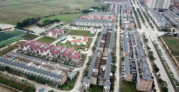 Khu đô thị mới An Khánh - Lê Trọng Tấn, huyện Hoài Đức. Ảnh: Phạm Hùng