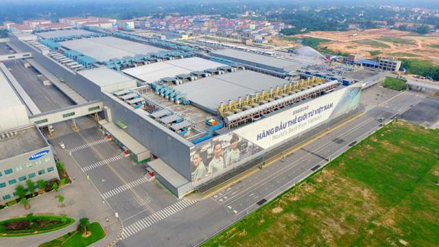 Toàn cảnh nhà máy Samsung Thái Nguyên (nguồn Internet).