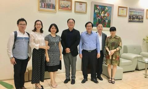 Lãnh đạo Viện Kiến trúc Quốc gia làm việc với Công ty Samoo (Hàn Quốc)