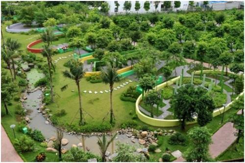 Công viên 6 giác quan - một trong những hạng mục tiện ích đã hoàn thành.