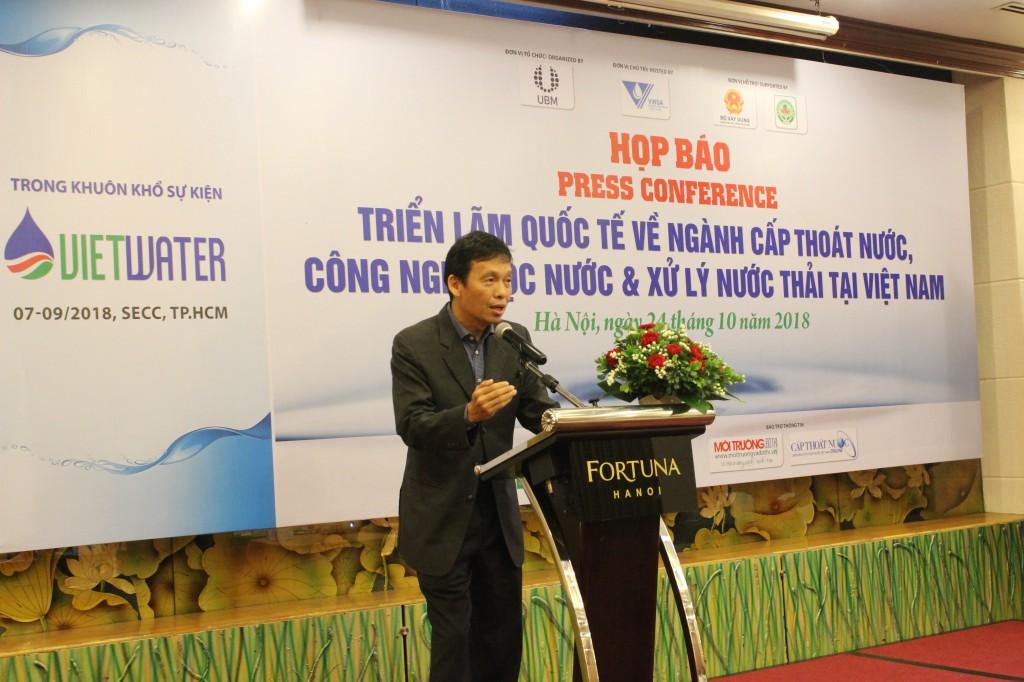Ông BT Tee - Tổng Giám đốc Công ty UBM - Đơn vị tổ chức sự kiện Vietwater trong suốt 10 năm qua