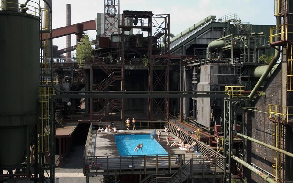 Công năng mới trên nền cũ tại khu công nghiệp khai thác than đá Zeche Zollverein (Ảnh TL tác giả)