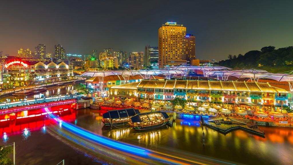 Clark Quay ở Singapore hiện nay (Ảnh TL tác giả)