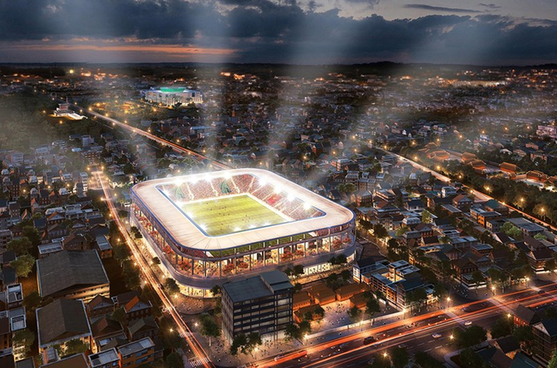 Phối cảnh dự án Tổ hợp thể thao sân vận động Hàng Đẫy