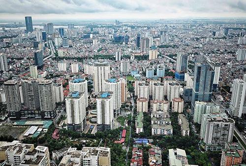 TP Hà Nội hiện có hàng nghìn toà nhà cao tầng tập trung ở các quận nội thành. Ảnh: Giang Huy.