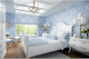 Những mẫu giấy dán tường phòng ngủ cho mùa đông thêm ấm áp