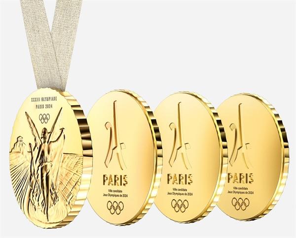 Huy chương Thế vận hội 2024 (Paris 2024 Olympic medals) Những chiếc huy chương được Philippe Starck sáng chế dành cho Thế vận hội 2024. Với bề mặt như được thiết kế như một chiếc huy chương thông thường, điểm đặc biệt là nó có thể bẻ ra thành từng mảnh nhỏ để nhà vô địch có thể chia cho những người thân.