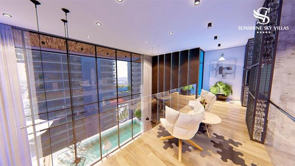 Sky Villas thường được quy hoạch với số lượng sản phẩm giới hạn, chỉ bao gồm một loại hình căn biệt thự và không trộn lẫn với những căn hộ thông thường