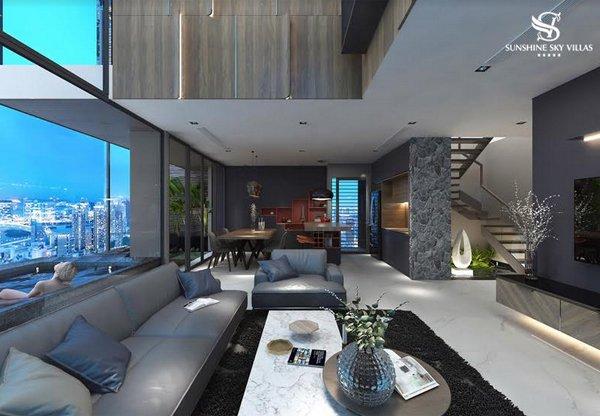 Sky Villas chính là chuẩn mực của phong cách sống mới, đẳng cấp, riêng biệt và hưởng thụ - đích ngắm của giới siêu giàu trên toàn thế giới.