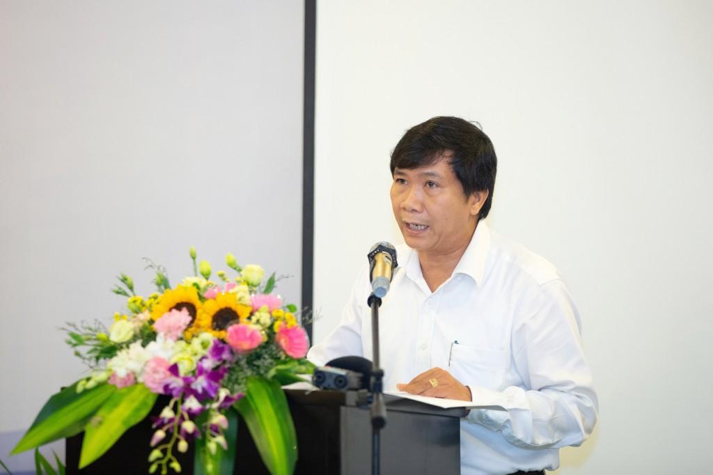 Ông Nguyễn Văn Sơn, Phó Chủ tịch Thành phố Hội An phát biểu tại hội thảo