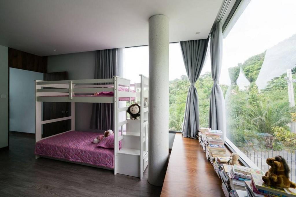 Phòng con gái màu hồng