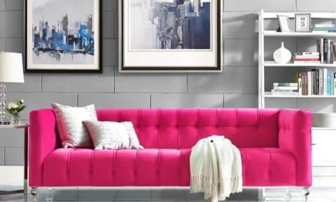 Ghế sofa nhung – điểm nhấn màu sắc tuyệt hảo cho phòng khách