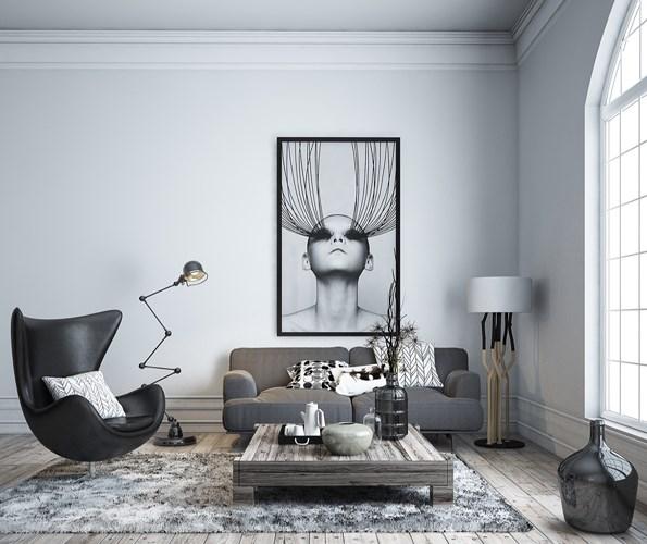 Phòng khách hiện đại đồng thời thể hiện được cá tính riêng của chủ nhà