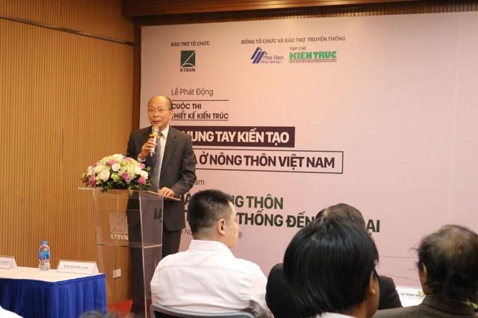 GS TS KTS Nguyễn Quốc Thông phát biểu trong lễ phát động cuộc thi