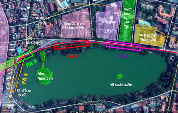 Hà Nội đã chọn phương án 1 (PA1) là vị trí đặt ga C9 tuyến đường sắt đô thị số 2
