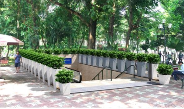 Hà Nội đã chọn bỏ mái che cho các cửa lên xuống ga C9 để không phá hỏng cảnh quan hồ Hoàn Kiếm