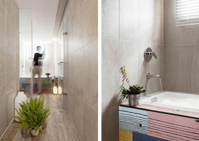 Nơi thư giãn, tắm mỗi ngày được bố trí gọn gàng