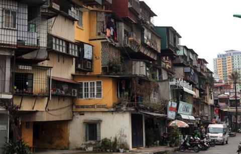 Nhiều chung cư Hà Nội đang trong tình trạng xuống cấp nghiêm trọng