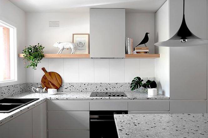 Đá mài terrazzo cho nhà bếp thêm ấn tượng (nguồn: decoraid)