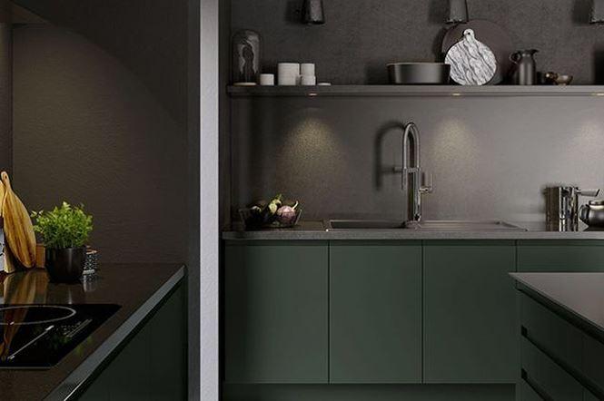 Nhà bếp màu xanh lục đậm là hot trend 2019 (nguồn: decoraid)