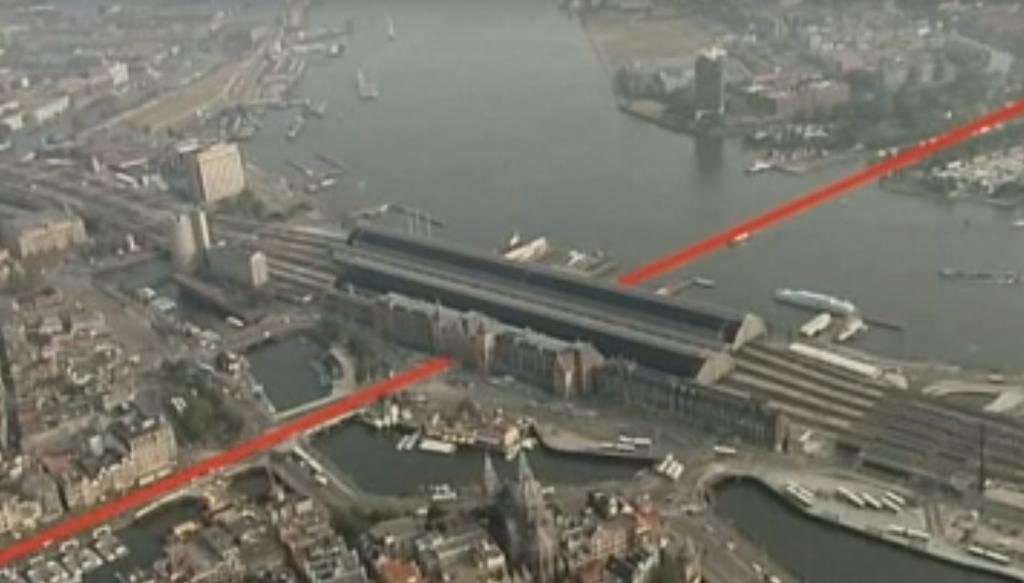 Hình 5: Vị trí tuyến metro Bắc-Nam ở thủ đô Amsterdam (Hà Lan)