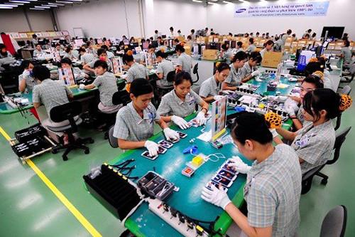 Nhà máy Samsung Thái Nguyên nơi thu hút đông đảo người lao động cả nước