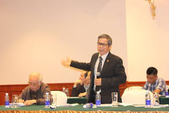 Chỉ duy nhất KTS Trần Huy Ánh bày tỏ quan điểm phản đối phương án ga C9 của Hà Nội tại buổi tọa đàm ngày 19-11 - Ảnh: THIÊN ĐIỂU