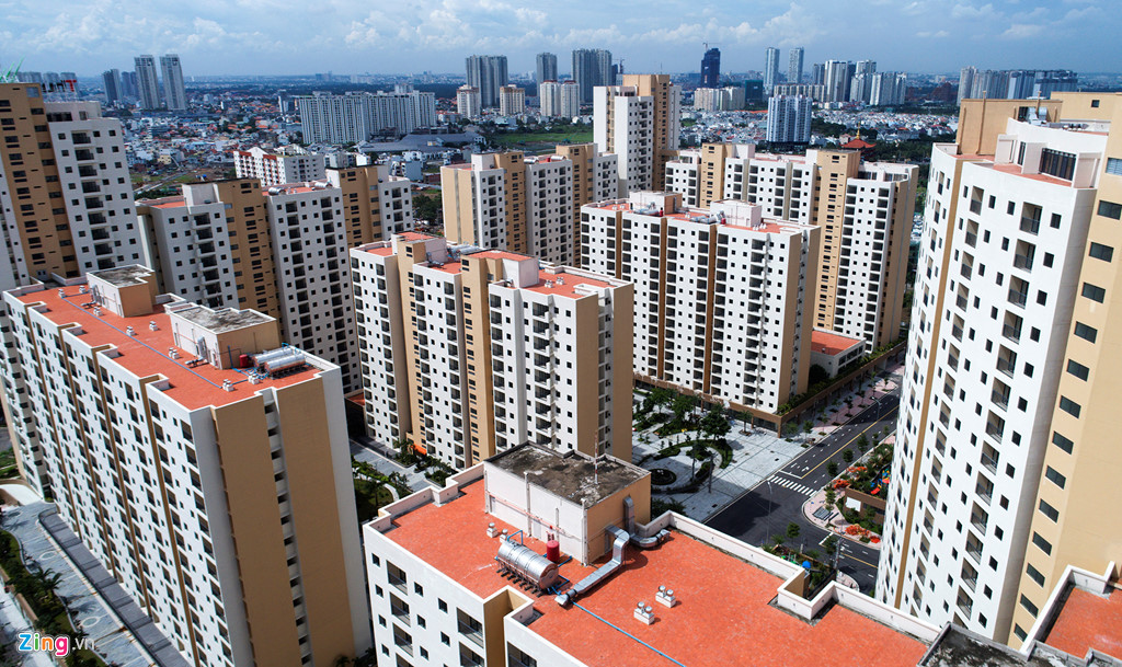 TP. Hồ Chí Minh là những vùng có tốc độ đô thị hóa nhanh nhất cả nước. Ảnh LQ