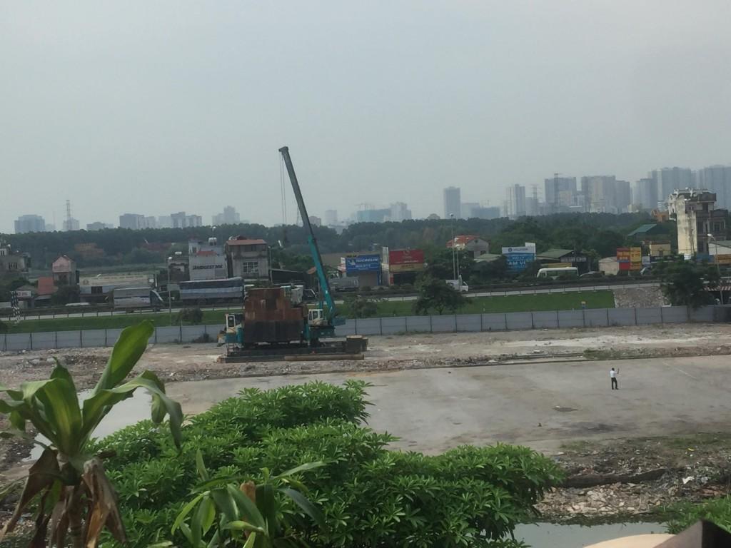 Khu vực bến xe Yên Sở được quy hoạch sát với đường gom vành đai 3