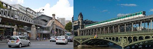 Tàu điện bánh hơi từ năm 1950 và phát triển cho đến ngày nay đang chạy qua các khu phố lịch sử, cây cầu cổ kính bắc qua sông Seine (Paris - Pháp)