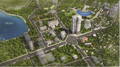 Phối cảnh tổng quan dự án Golden Park Tower