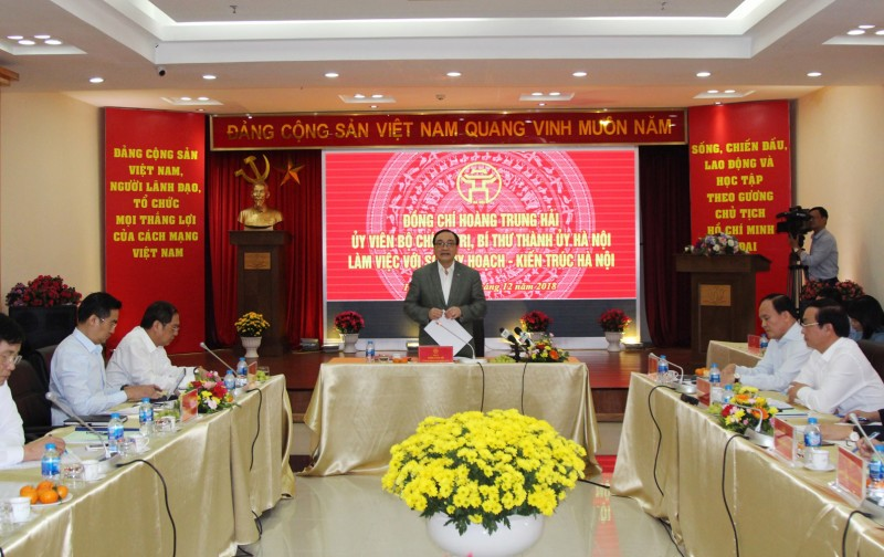Bí thư Thành ủy Hoàng Trung Hải làm việc với sở Quy hoạch – Kiến trúc