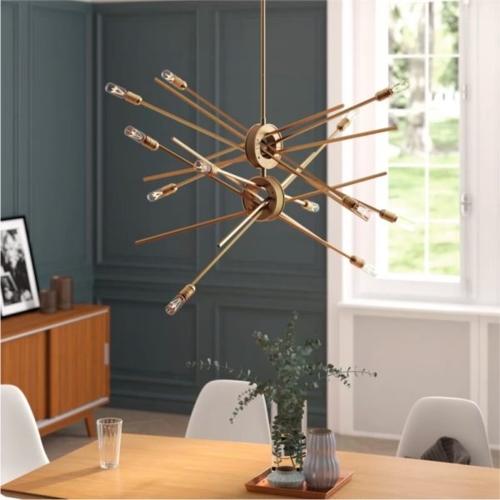 Thân đèn lấy cảm hứng từ chiếc ròng rọc mang đến nét sinh động