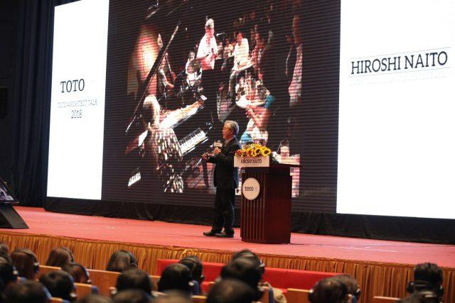 Kiến trúc sư Hiroshi Naito diễn thuyết tại sự kiện Architect Talk 2018