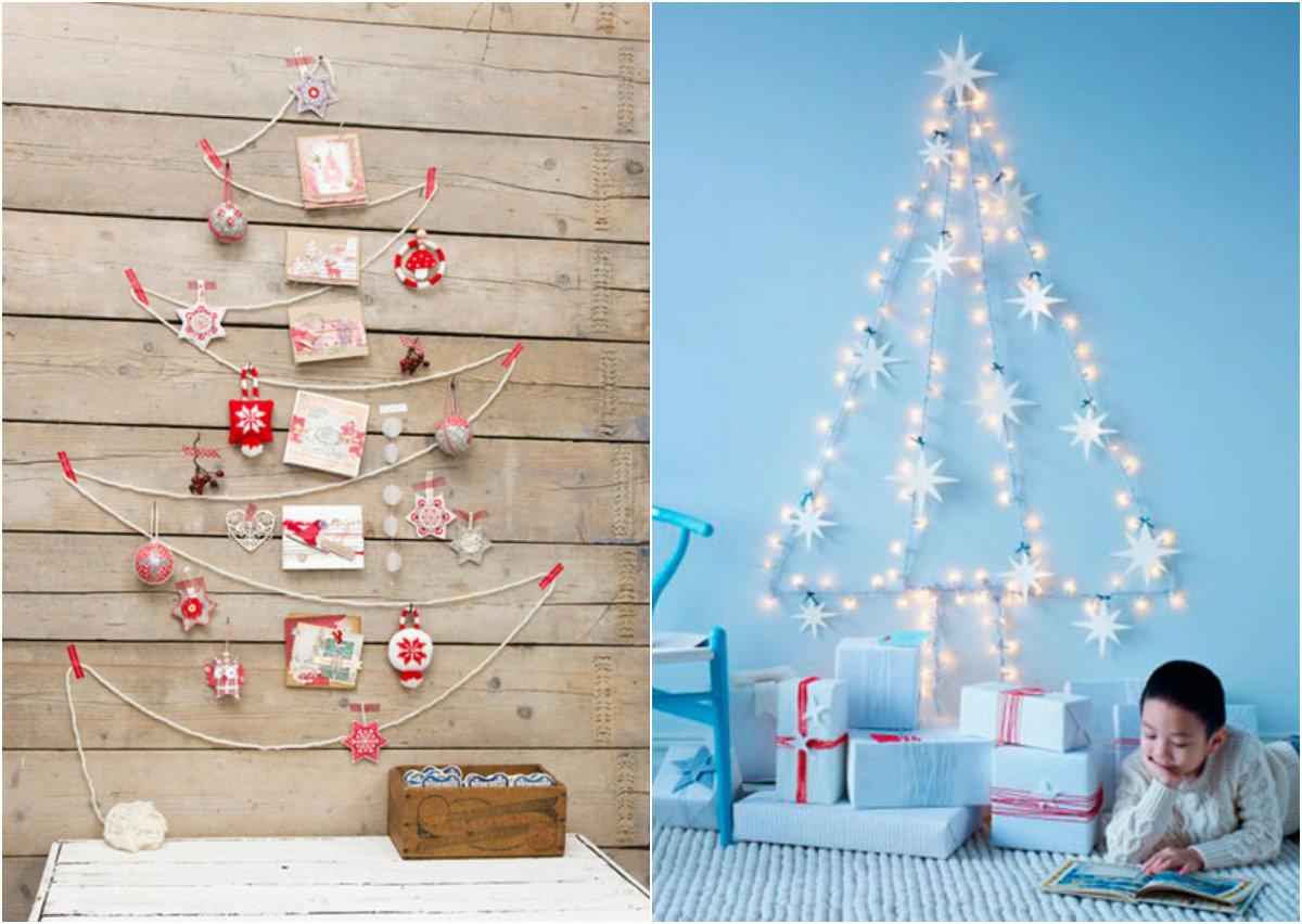 Cây thông dễ thương trên tường mang không khí Giáng sinh ngập tràn căn nhà bạn.