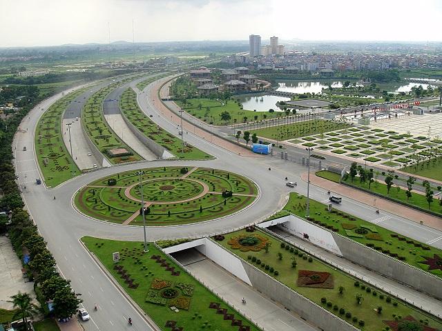 Đại lộ Thăng Long, tuyến giao thông nối Trung tâm Thủ đô với các đô thị vệ tinh. Ảnh: Thanh Hải