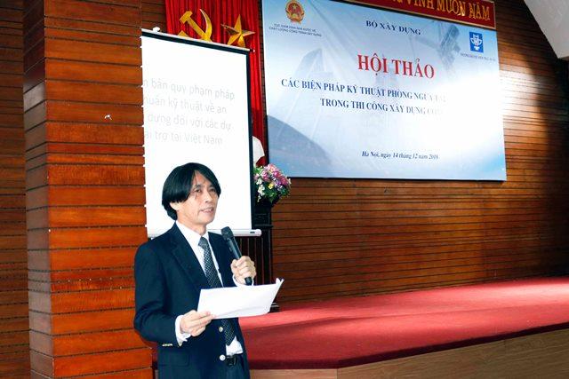Cố vấn cao cấp của tổ chức JICA Noda Seiji phát biểu tại Hội thảo