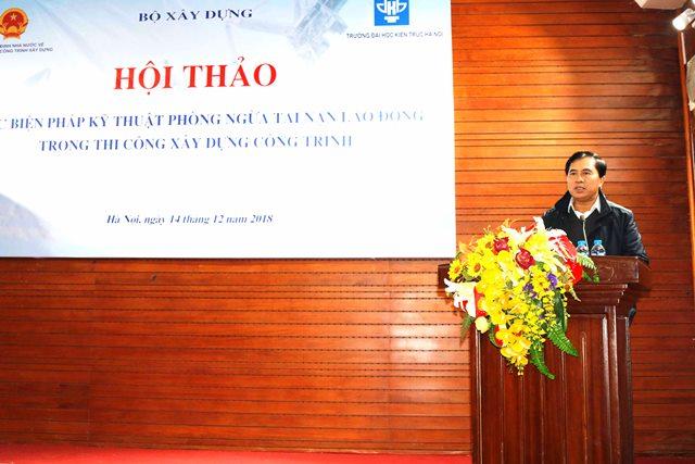 Thứ trưởng Bộ Xây dựng Lê Quang Hùng tham dự và phát biểu khai mạc Hội thảo