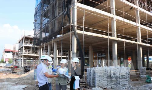 Dự án Nhà ở xã hội kết hợp dịch vụ thương mại thuộc huyện Yên Phong dự kiến giải quyết nhà ở cho 2.000 người. Ảnh: Diệp Trương - TTXVN